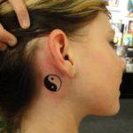 Tatuaj yin yang mic